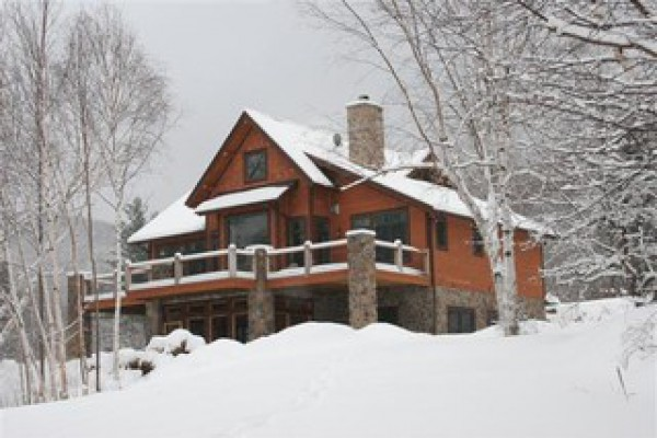 View of the house from northwest in winter