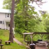 Gazebo with picnic tables, grill, firepit, dock access
