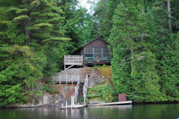 Main cabin from the lake