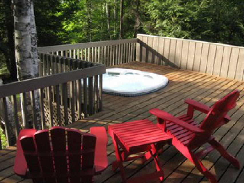 Relax on the hot tub deck