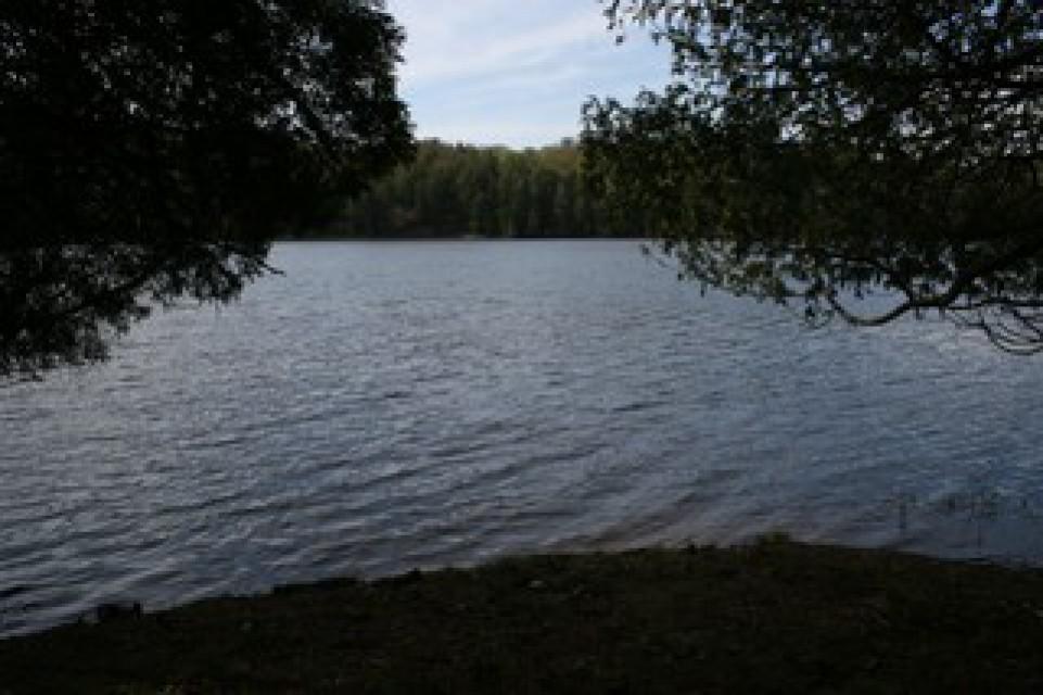 Canoe/kayak access at point with beautiful views.