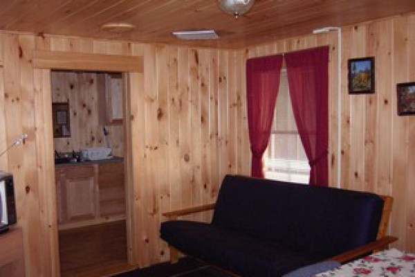 Inside is all done in pine