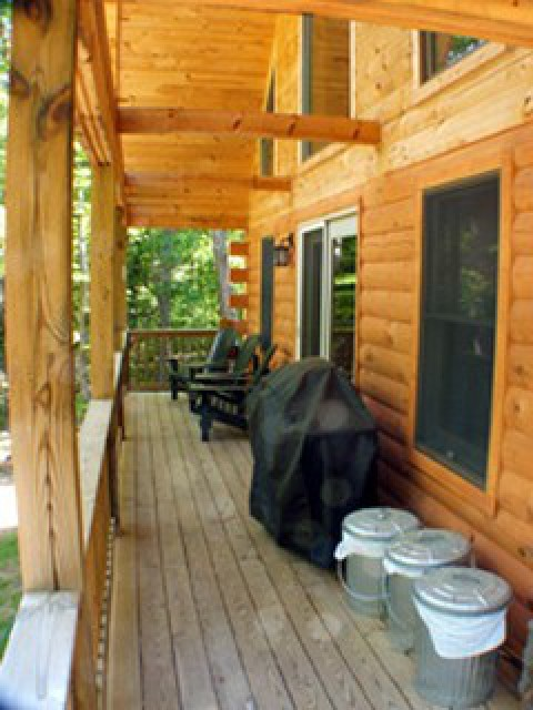 Deck; includes gas grill w/ gas provided and Adk chairs