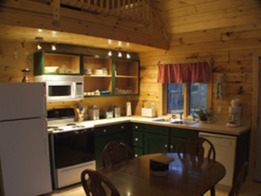 Completely furnished kitchen.