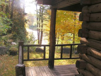 OLD EB - A RIVERSIDE LOG CABIN IN THE ADIRONDACKS