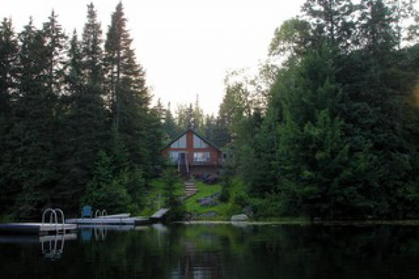 View of Bear Lodge from the lake
