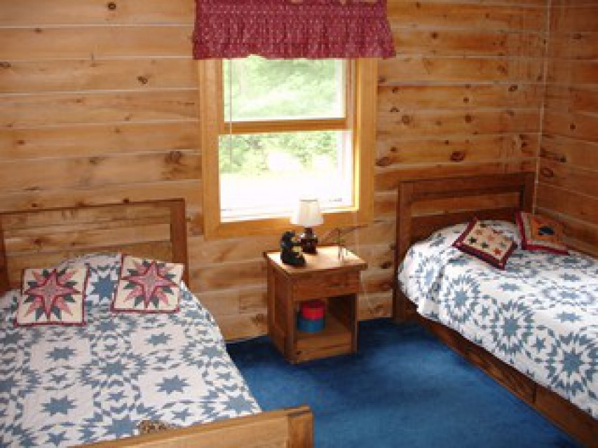 Two twin beds in the kids' room