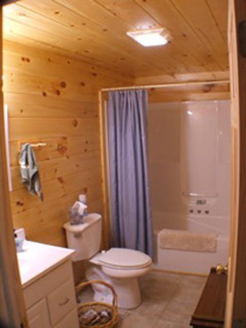 Main bath includes whirlpool tub.