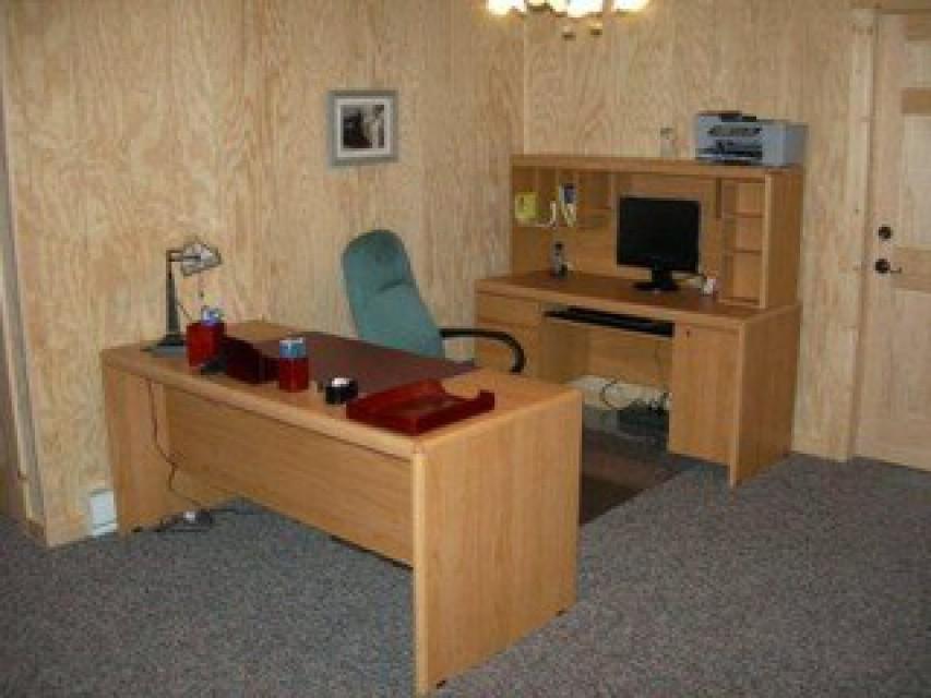 Basement office area