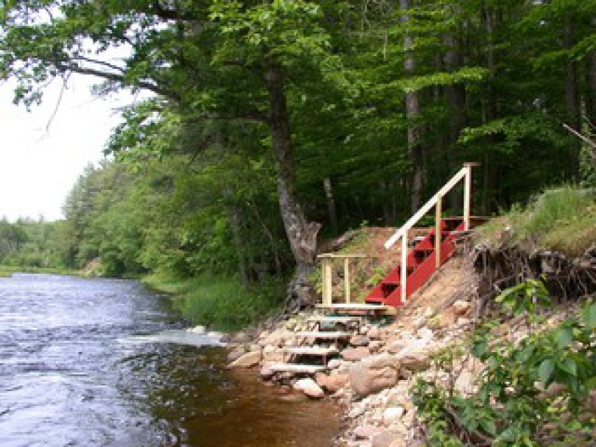 Stair to the swimming area