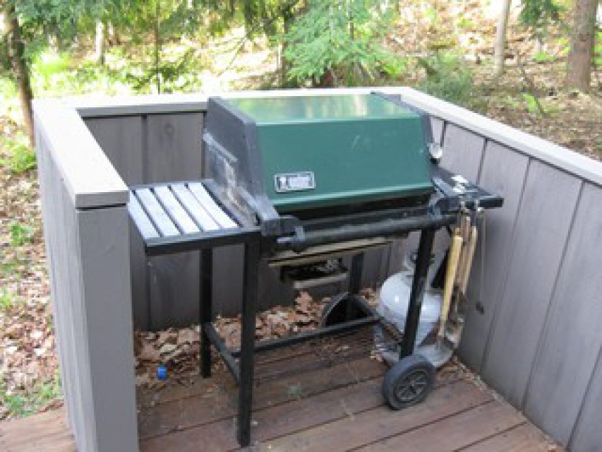 Grill all year long on the entry deck