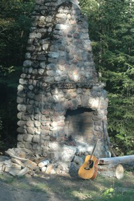 The stone chimney is great for fires!