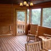 Screened deck w/ swing & table + 6 chairs