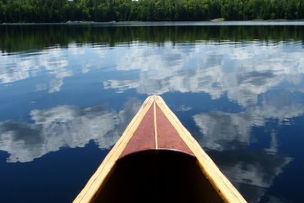 Help yourself to the canoe or rowboat to explore...