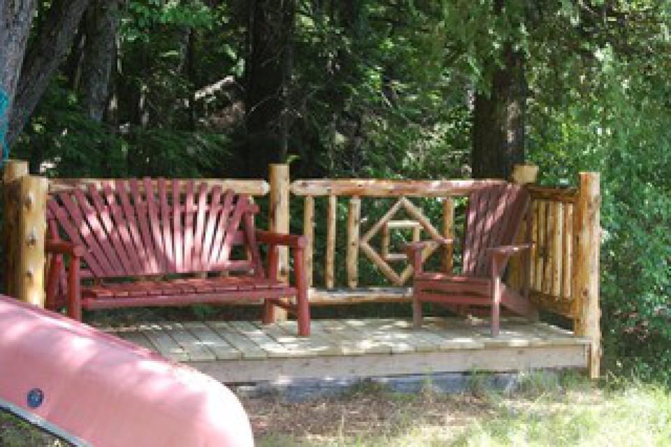 lakeside sitting deck