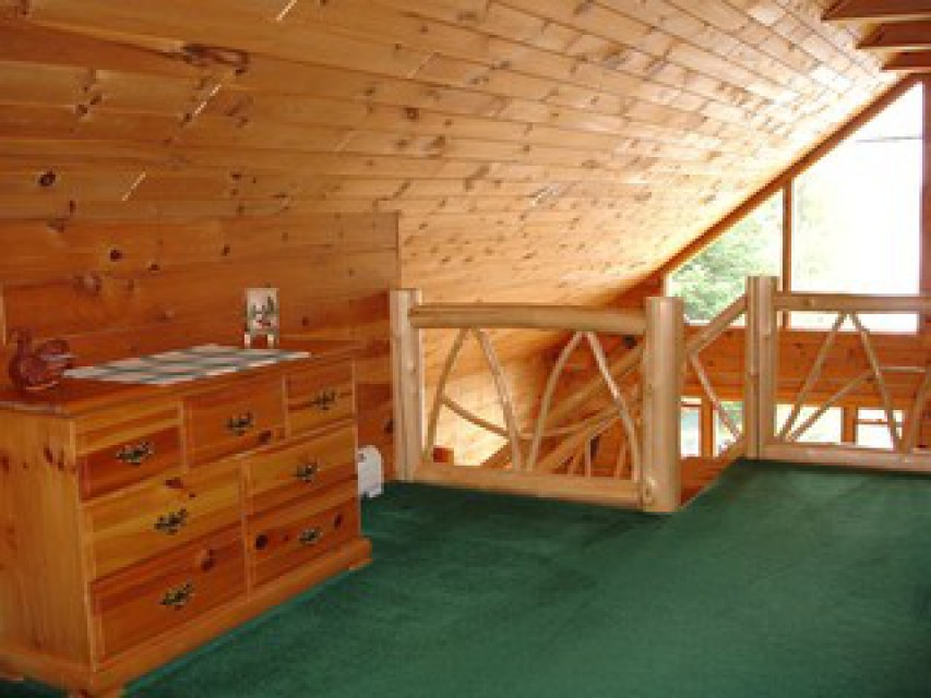 The loft offers a great view and has a full bath.