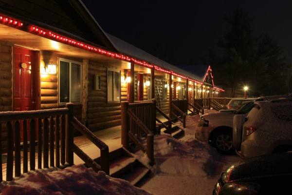 Winter scene at night