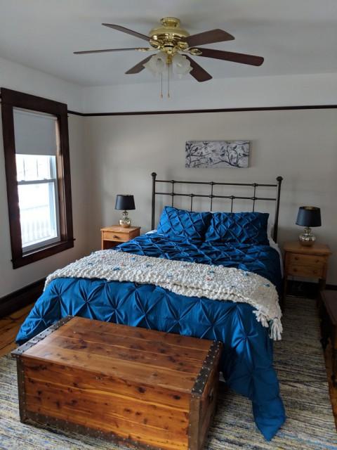 Mix of new beds/linens & antiques makes it warm & comfy