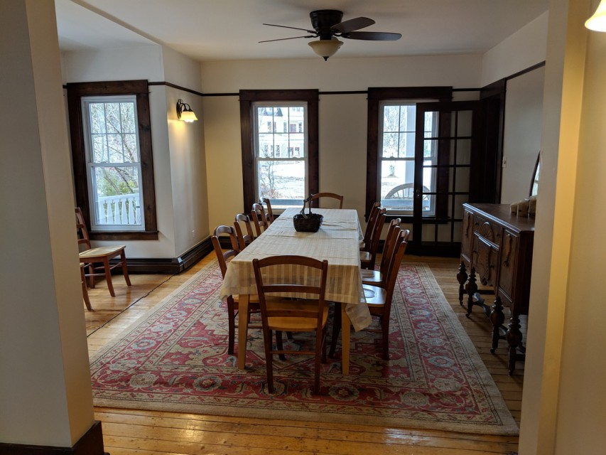 Dining room with room for up to 18