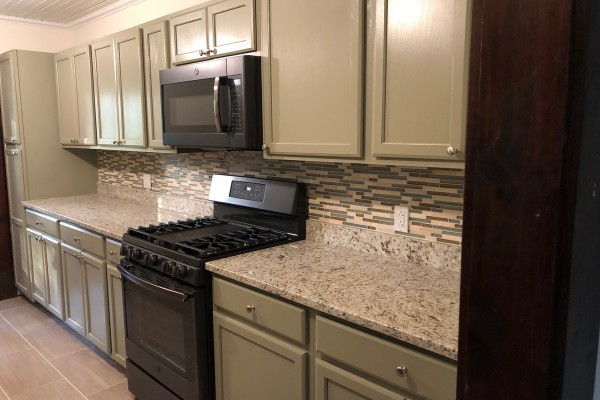 Large kitchen, redone in 2019.  New appliances.