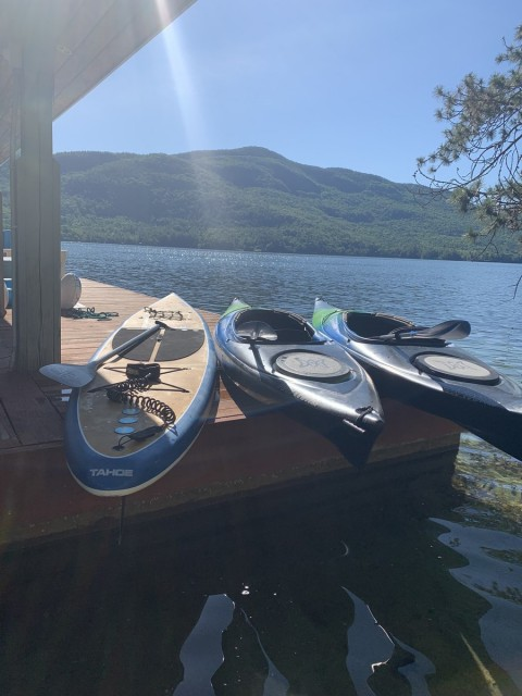 Two new kayaks and paddle board