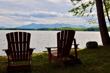 WATERFRONT WHITEFACE MT. HIGH PEAKS VIEW