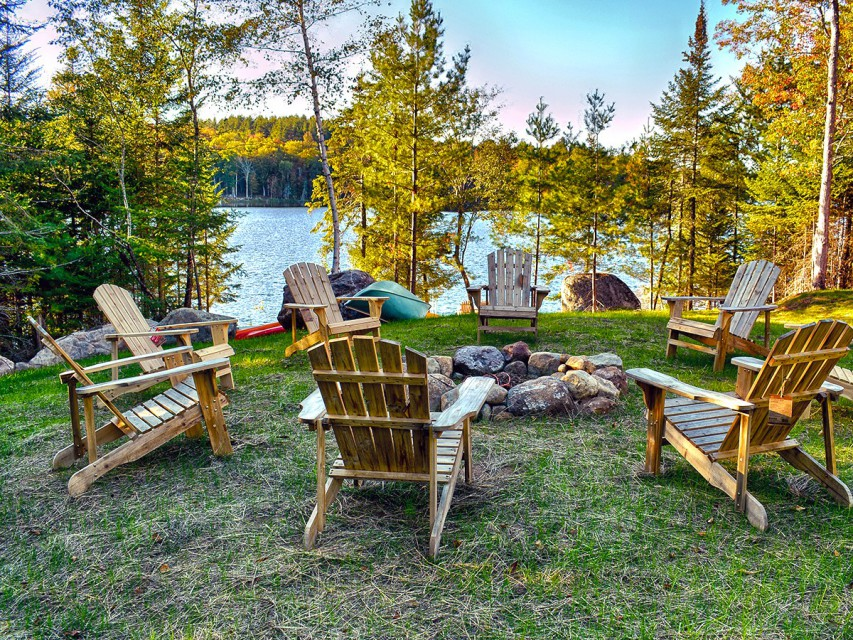 ADK Chairs around the Fire Pit