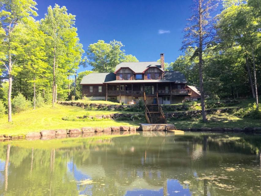 Summer Back Yard & Pond