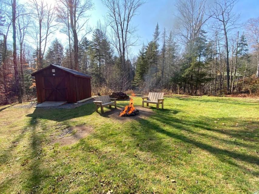 yard area / fire pit area