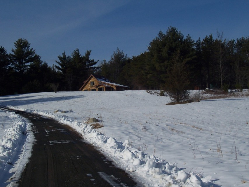 The view from our long driveway coming in...