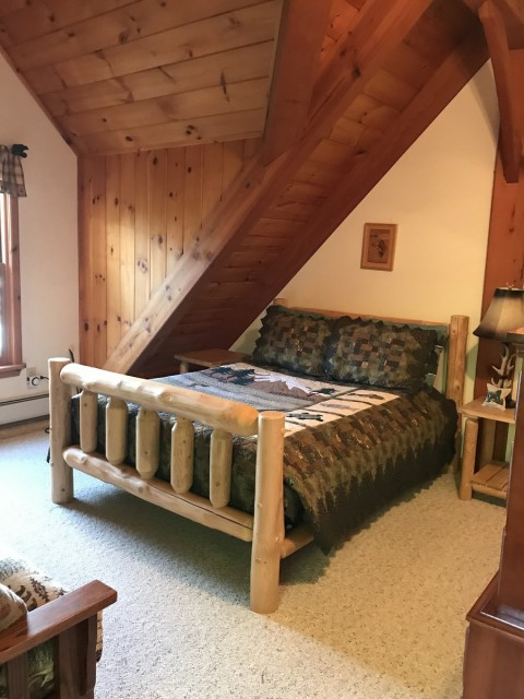 Upstairs bedroom - double bed and a double futon