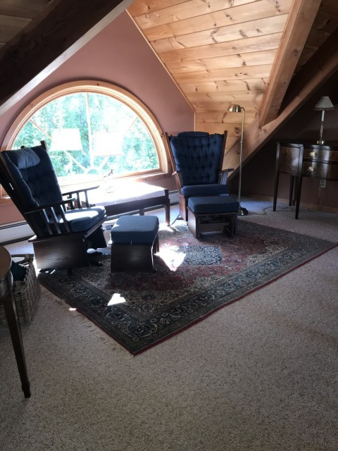 Reading nook in the Loft