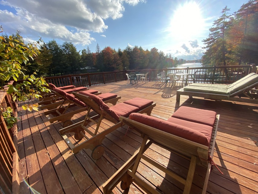 lounge chairs deck