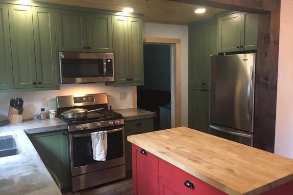 Custom Kitchen, Concrete Countertops, New Appliances
