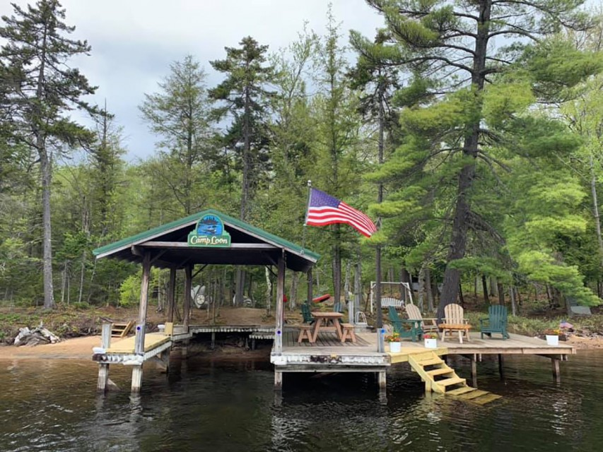 Over 100' private shore, sandy swimming, large dock
