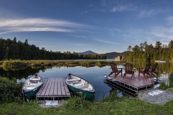 Take out a canoe on Lake Placid