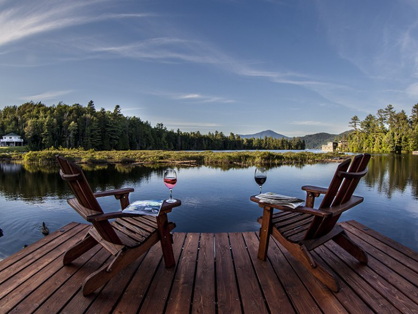 Relax in an Adirondack chair by the Lake