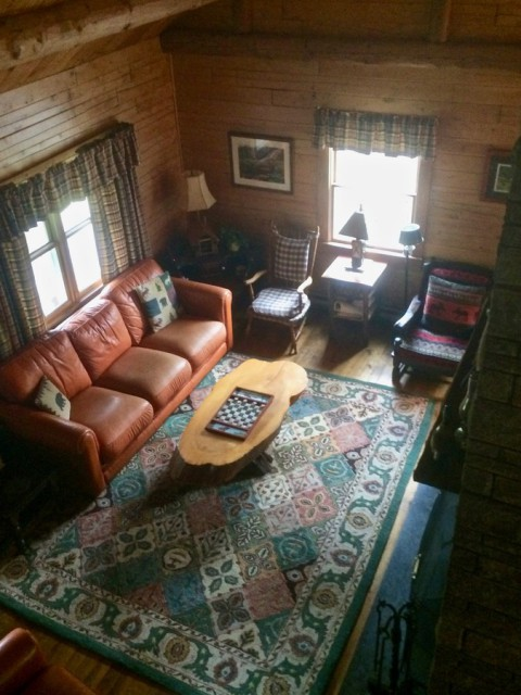 Living room as seen from the loft