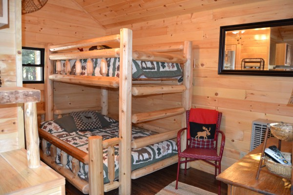 Baby Bear Paw - Log Bunk and Cathedral Ceilings
