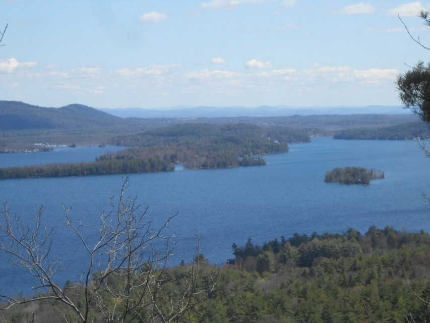 One of the lake views from the end of the hiking trail.