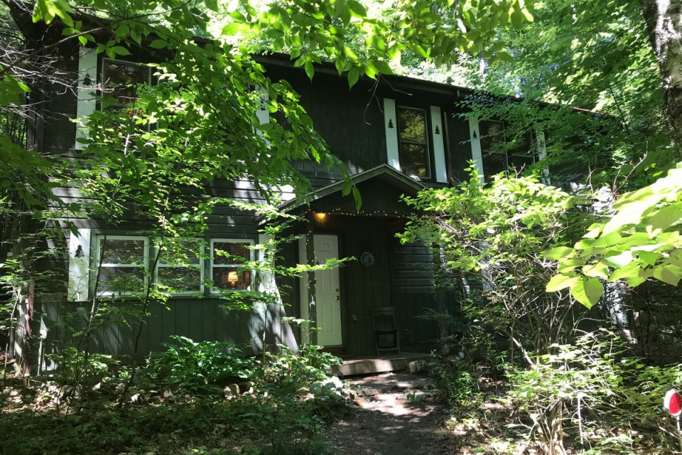 Woodland House in the summer.  Open year round, though.