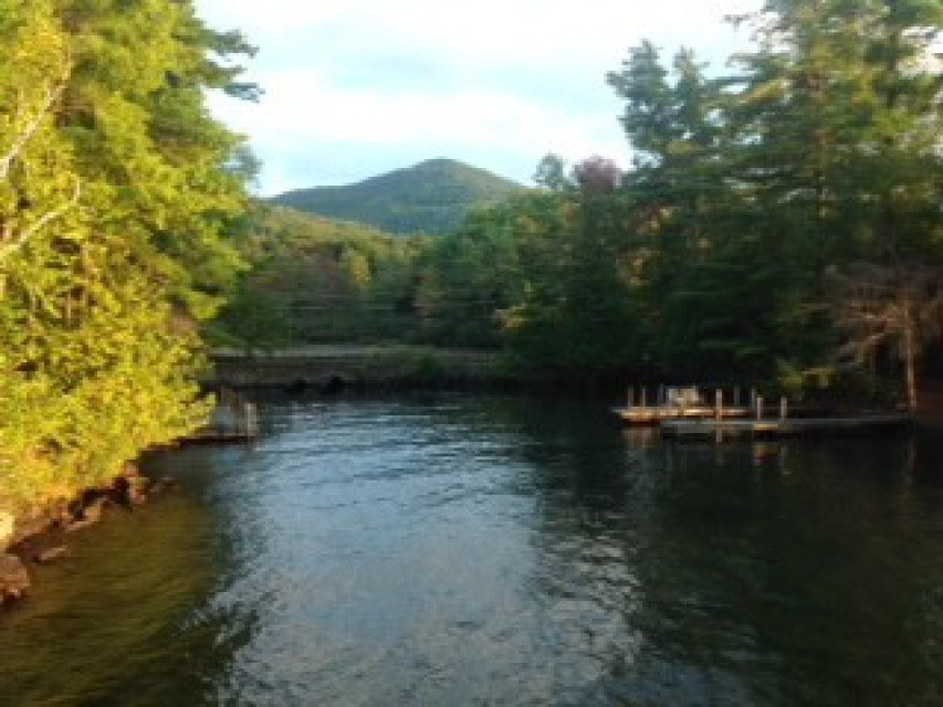"""""""View from the dock of Buck Mountain is incredible!"""""""