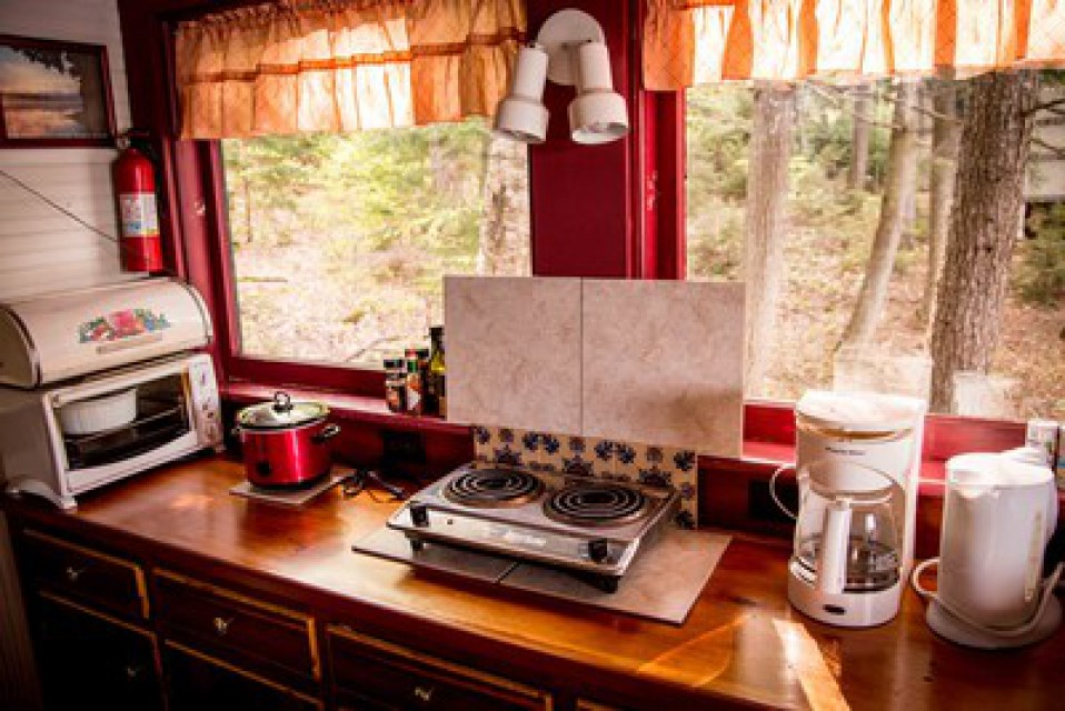 Kitchen convenience and propane grill on the porch