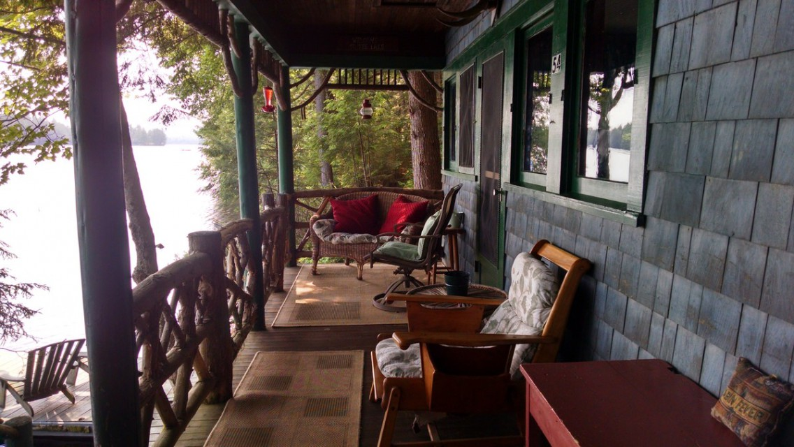 Morning coffee on the covered porch