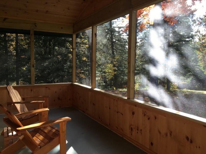 New screen porch