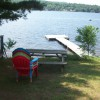 Looking out over dock from fire pit area