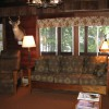 The living room has a warm and comfortable feel to it.