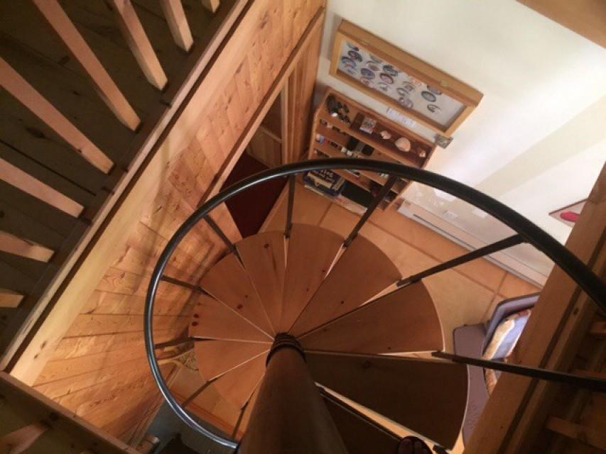 Unique spiral staircase