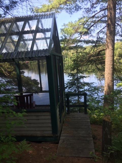 Private waterfront gazebo (.5 miles from camp) pic:1