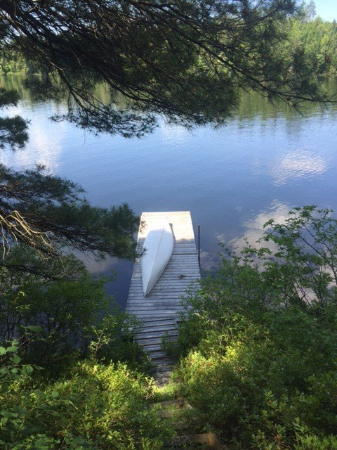 Dock with canoe